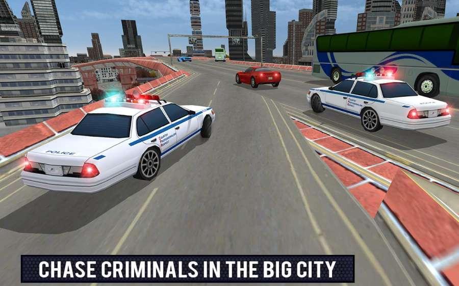 警察车歹徒逃脱模拟