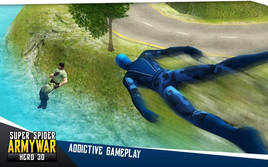 超级蜘蛛军队战争英雄3D截图1