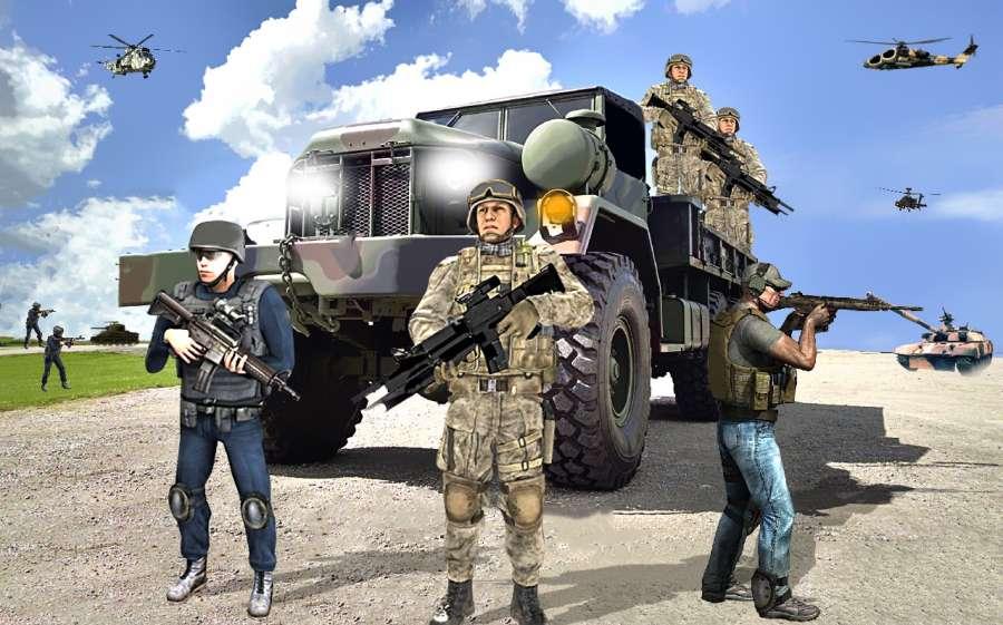 陆军货物卡车司机