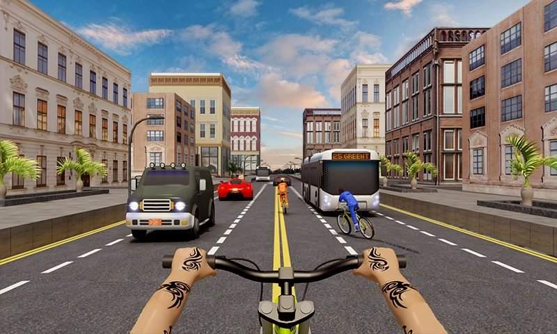 自行车四强特技赛车3D截图4