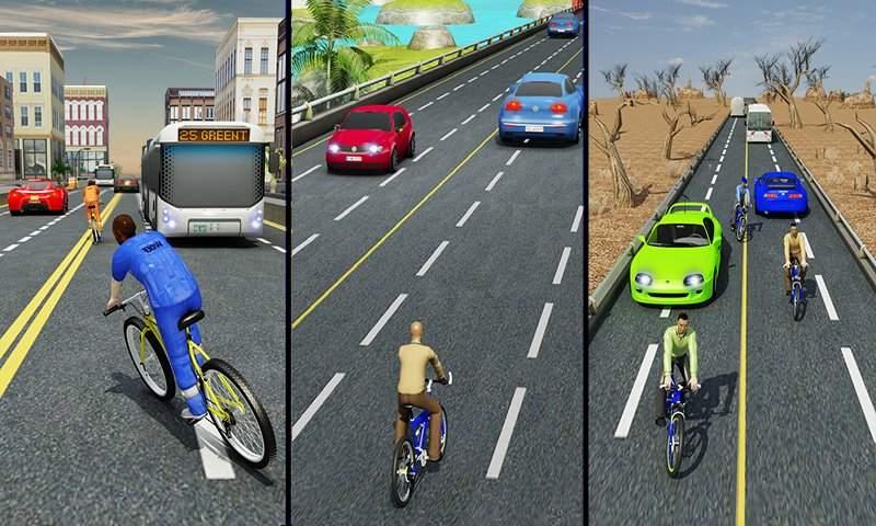 自行车四强特技赛车3D截图5