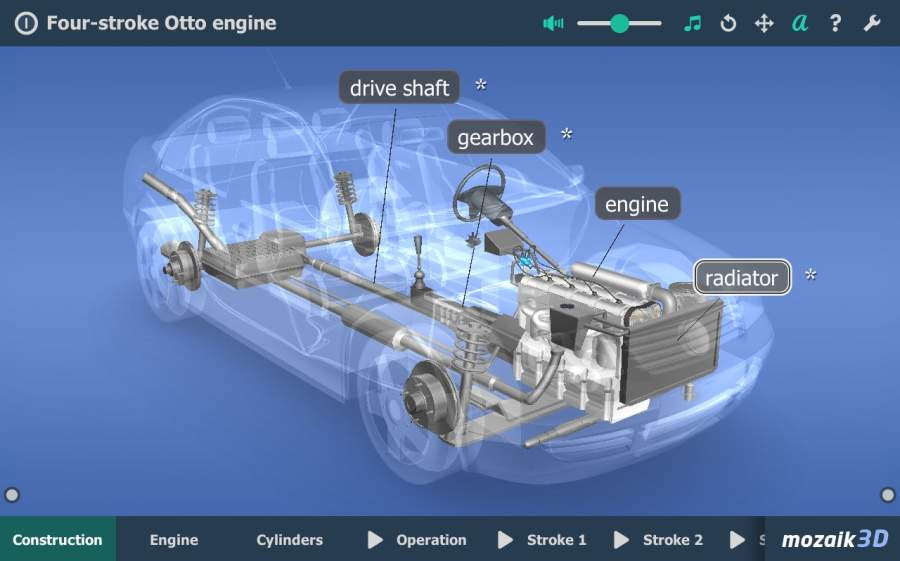 Four-stroke Otto engine VR 3D截图0
