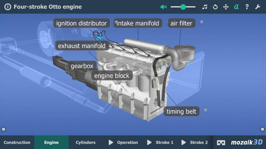 Four-stroke Otto engine VR 3D截图1