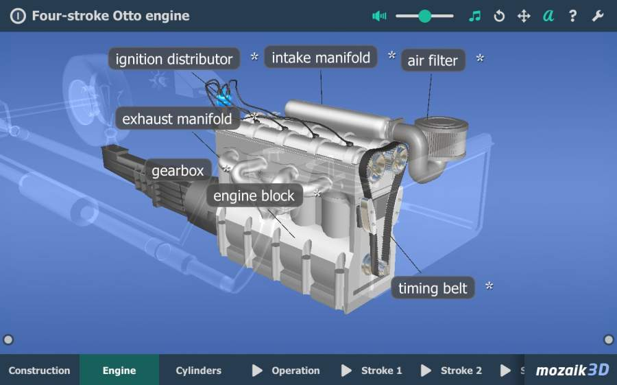 Four-stroke Otto engine VR 3D截图10