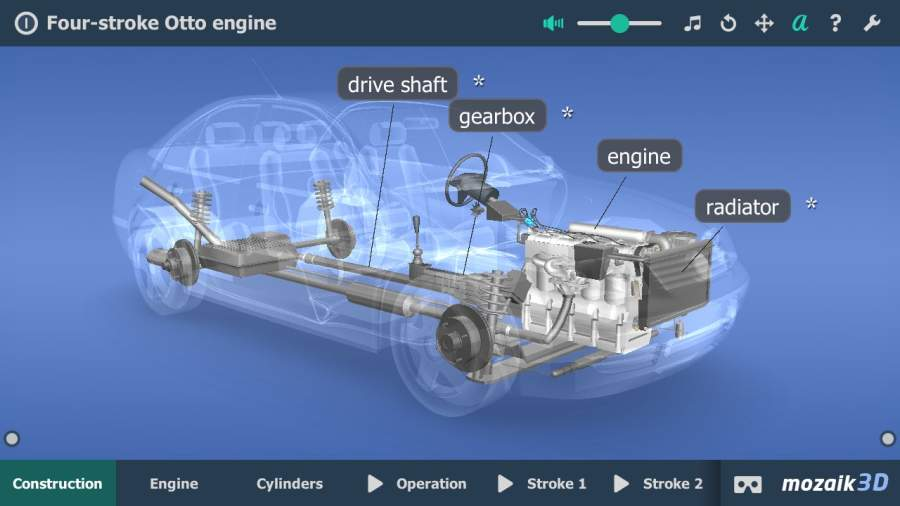 Four-stroke Otto engine VR 3D截图5