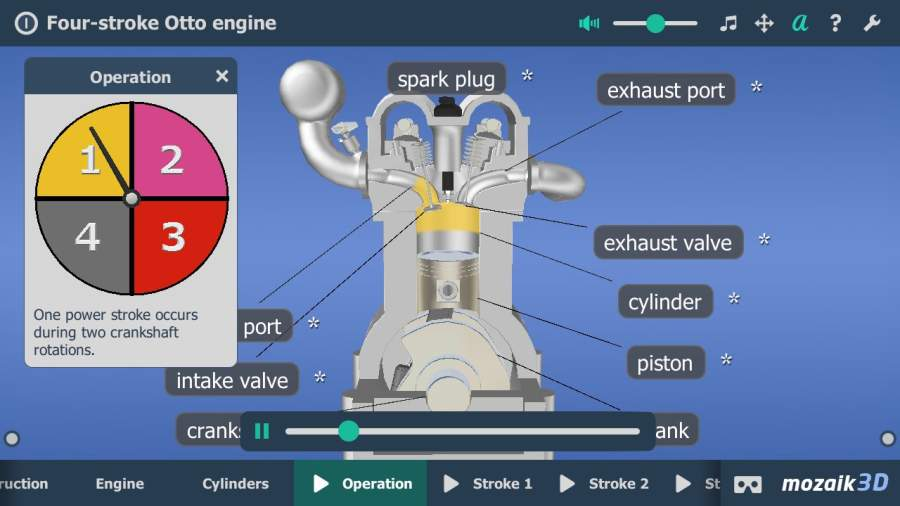 Four-stroke Otto engine VR 3D截图6