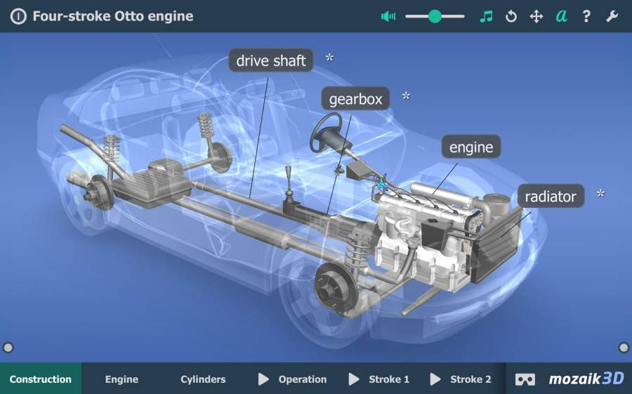 Four-stroke Otto engine VR 3D截图9