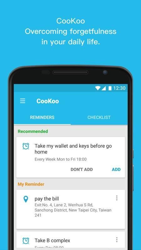 CooKoo:鬧鐘及地點提醒