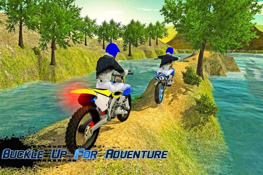 越野摩托车车手3d