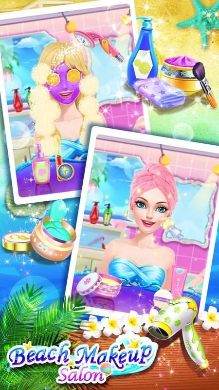 沙灘派對 – 化妝換裝遊戲截图2
