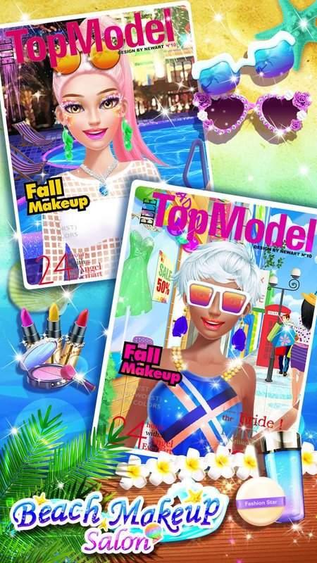 沙灘派對 – 化妝換裝遊戲截图4