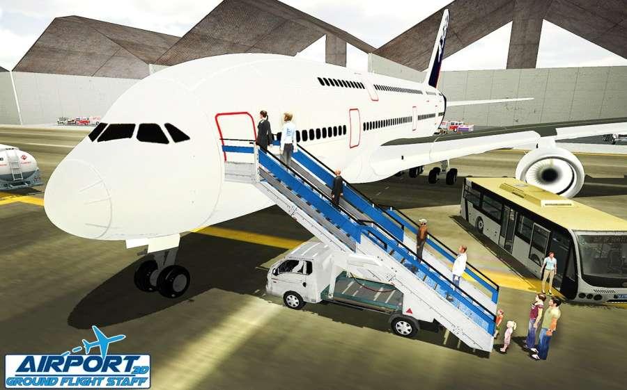 機場地面飛行工作人員3D