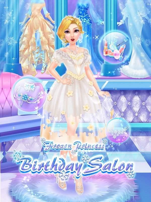 冰雪世界沙龙:皇家公主生日派对截图4