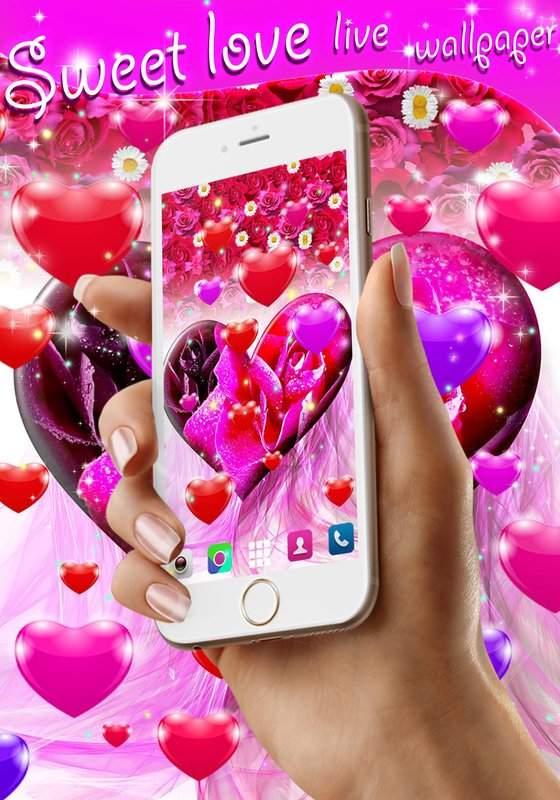 Sweet love live wallpaper截图1