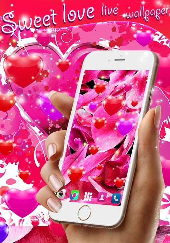 Sweet love live wallpaper截图4