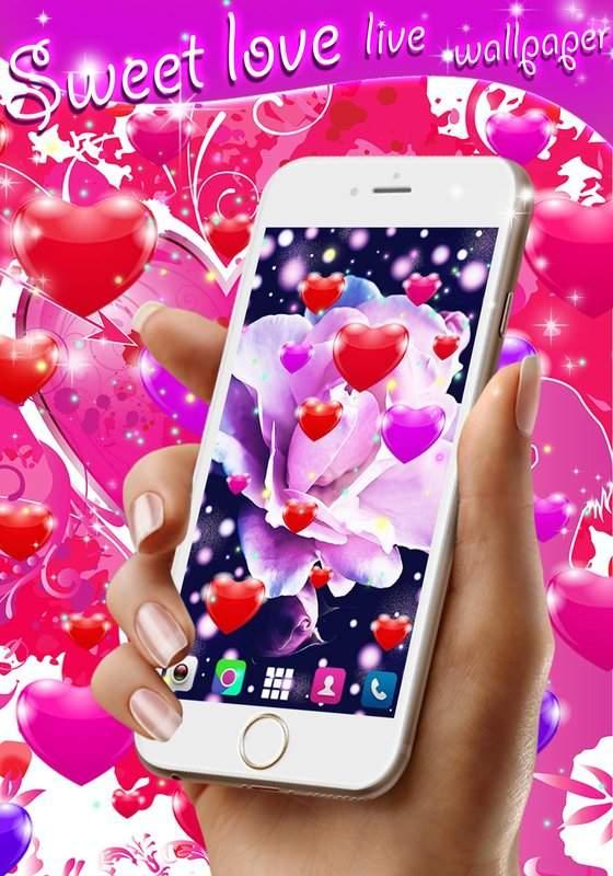 Sweet love live wallpaper截图6