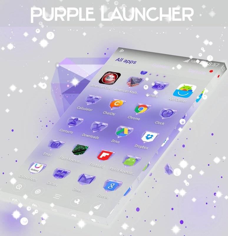 紫色的GO桌面主题