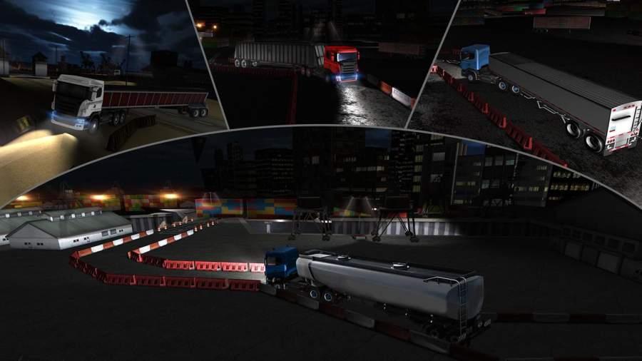 夜卡车司机停车3D截图3
