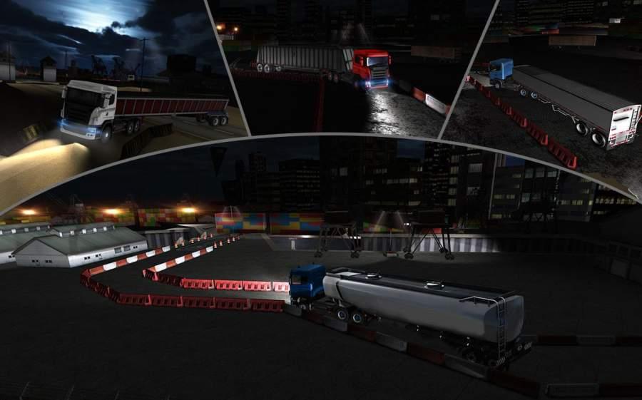 夜卡车司机停车3D截图5