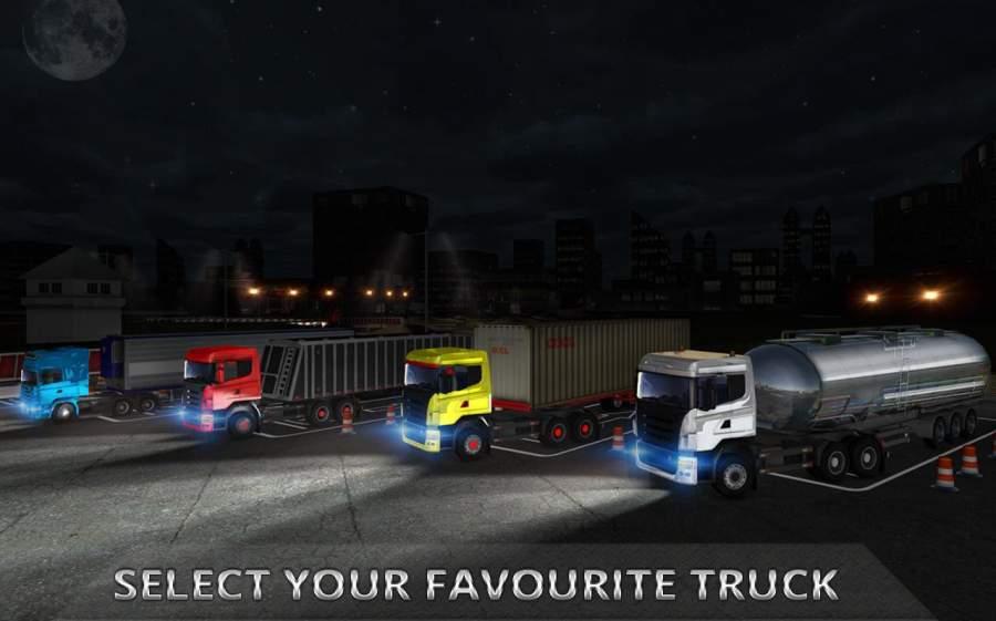 夜卡车司机停车3D截图6