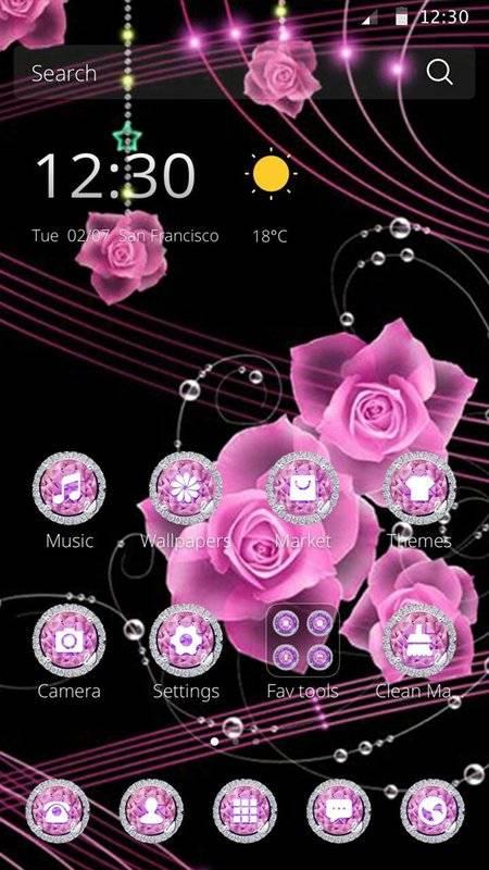主题粉红玫瑰吊坠