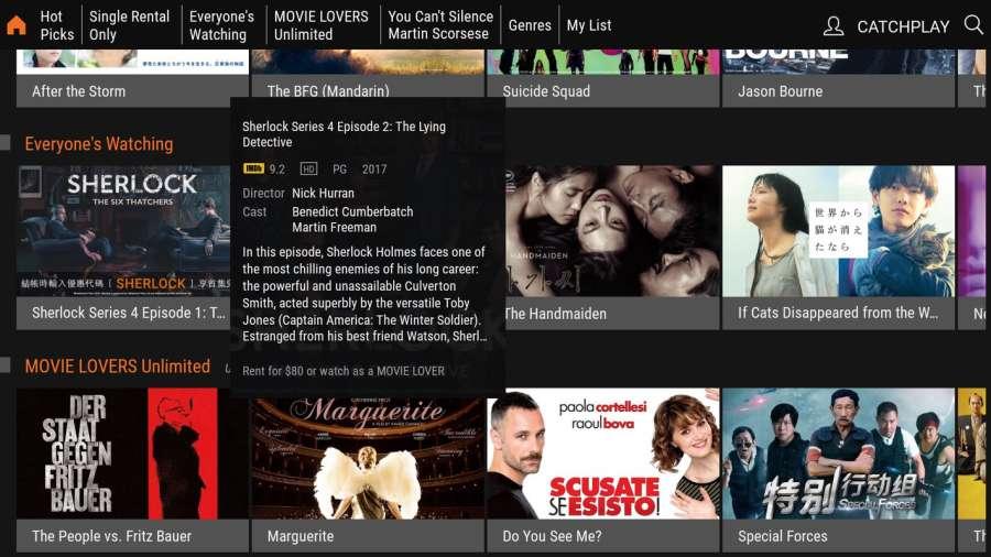 CATCHPLAY TV/機上盒 最新熱門強檔電影線上看截图1