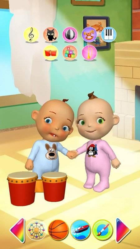 谈的婴孩双胞胎新出生的乐趣截图6