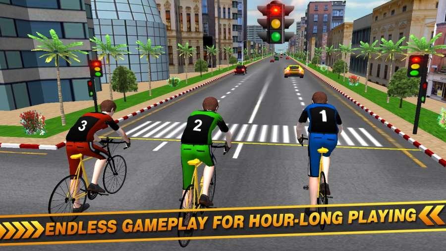 交通自行车骑手3D赛车