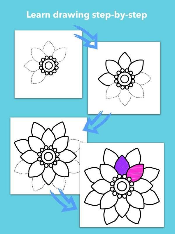 学画花朵截图3