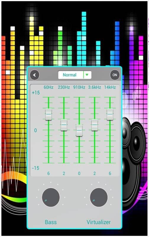 音乐均衡器通过使用HD音效