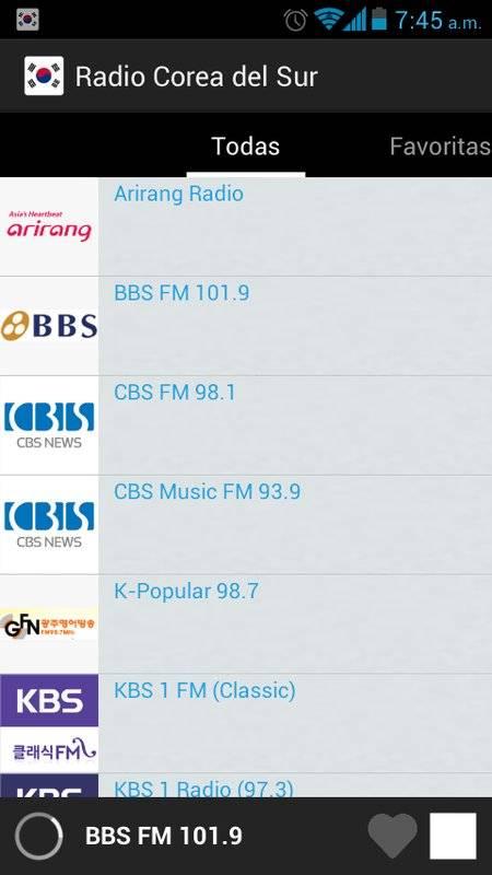 南朝鲜的电台截图2