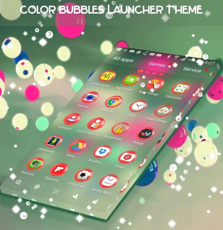 彩色泡泡桌面主題