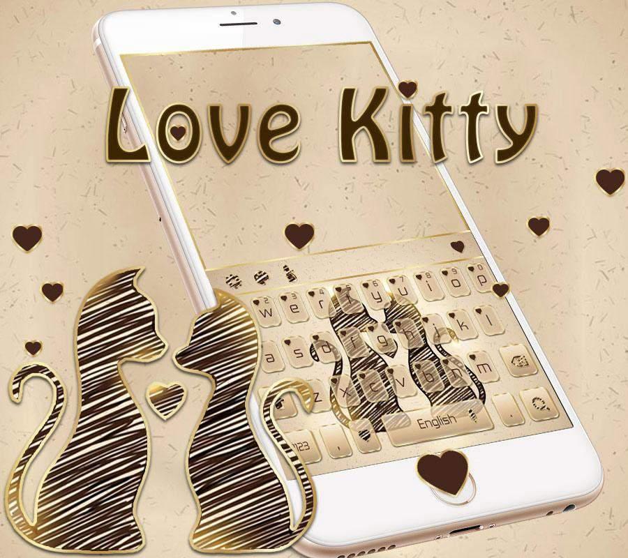 宠物猫咪爱心键盘主题 条纹猫星人主题