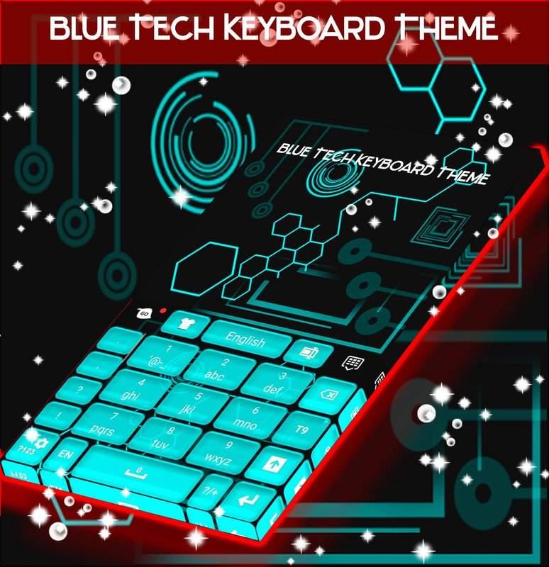 藍色科技鍵盤主題