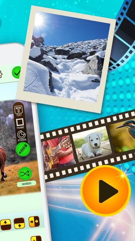 在视频编辑程序中组合照片和音乐截图1