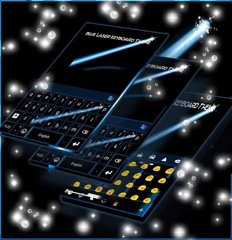 蓝色激光键盘主题