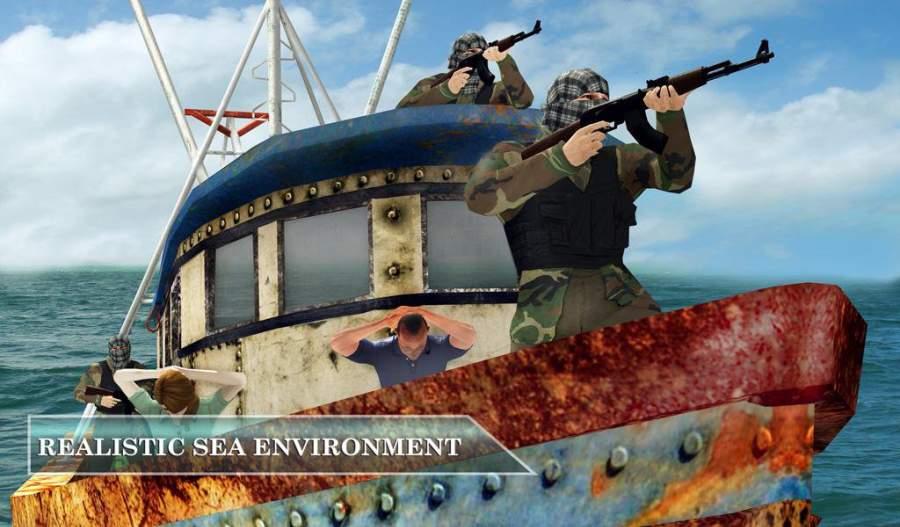 海盗船VS海军舰队隐形救援任务截图1