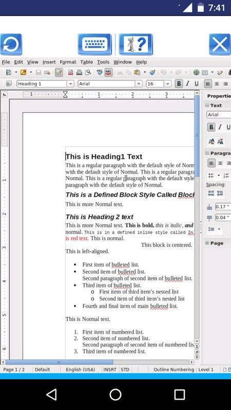 AndroWriter 文件编辑器截图1
