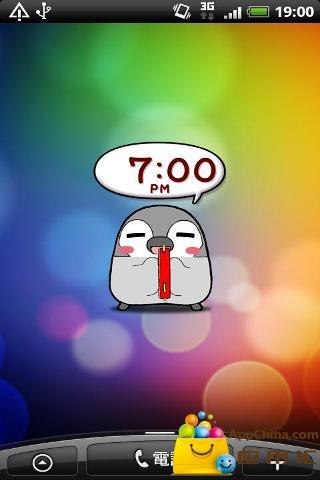 动态企鹅桌面时钟 工具 App-愛順發玩APP