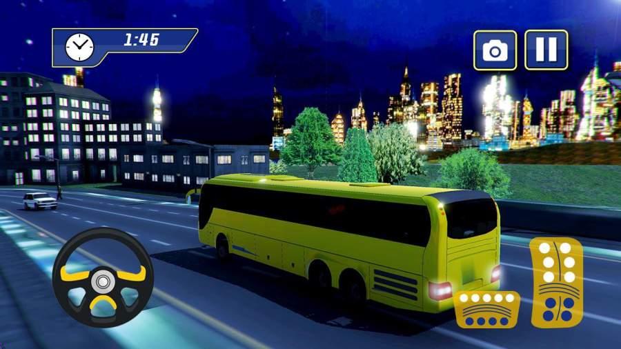 现代旅游公共汽车小山攀登