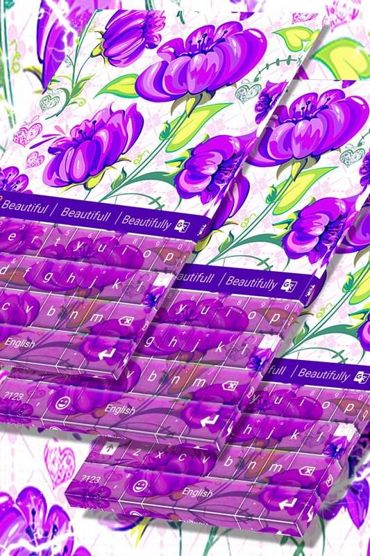 紫色花键盘主题
