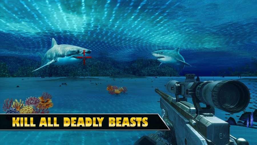 水下鲨鱼狙击猎人截图4