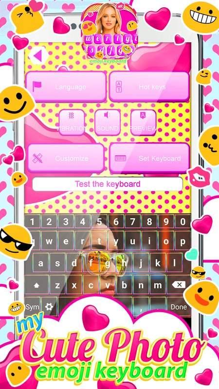 表情符号鍵盤主題与我的照片