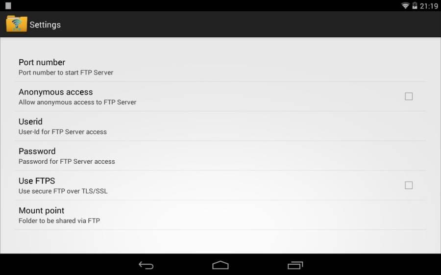 无线FTP服务器截图4