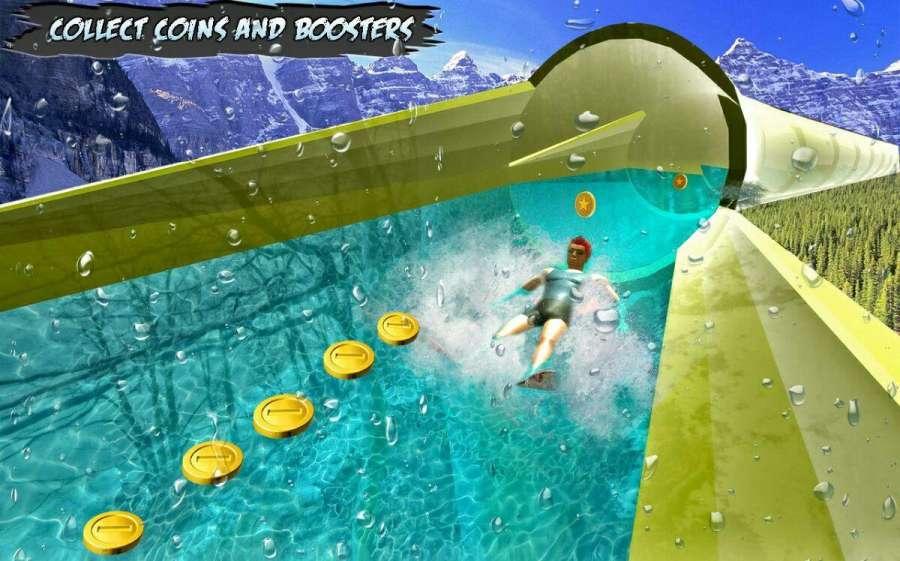 水 滑动 骑 游戏