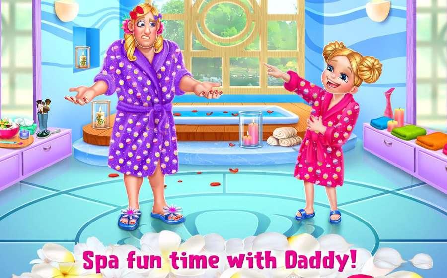 和爸爸一起做水疗—— 女生装扮大冒险截图3
