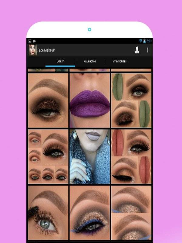 面部化妆图片