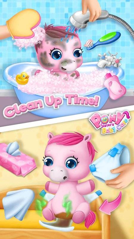 Pony Sisters Baby Horse Care截图1