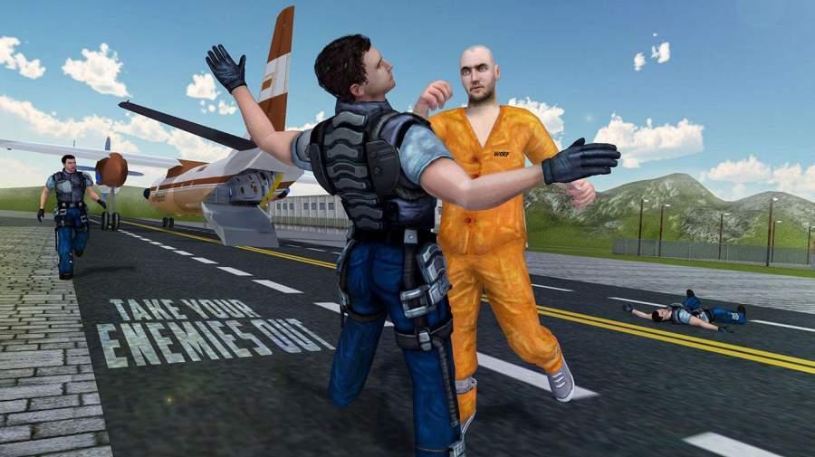 监狱逃命警察飞机3D截图3