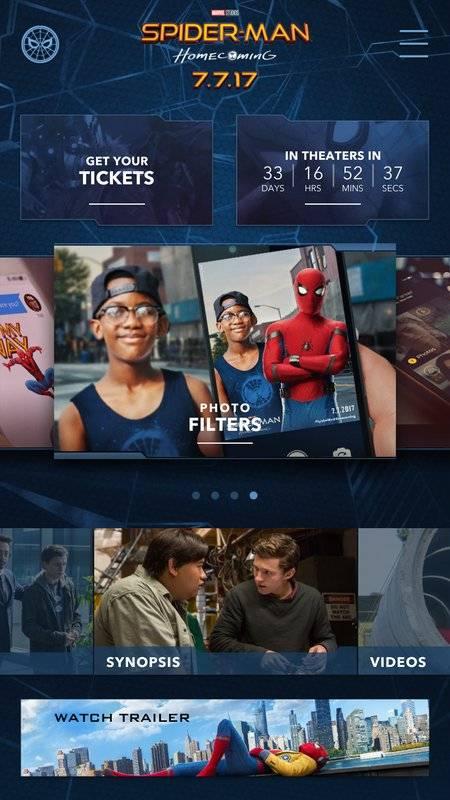 The Spider-Man: Homecoming App截图1
